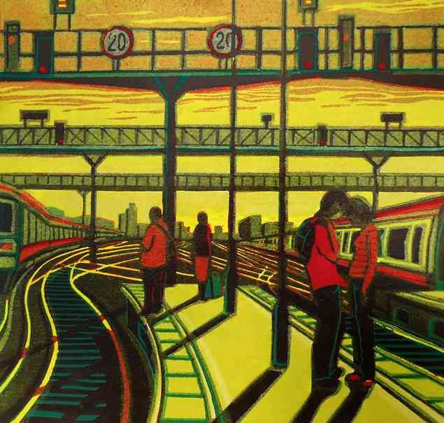 Remember Me - Linocut by Gail Brodholt RE