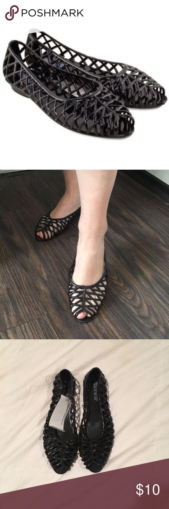 Black jelly sandals american apparel - Black Jelly Shoes Sandals American Apparel Black Jelly Shoes Super Cute Nwt
