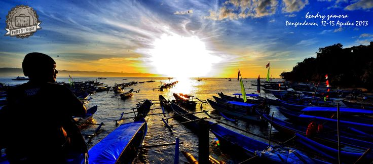 """Sunrise from East Pangandaran by Hendry Zamora. This photo is picked as """"Burufly's Photo of The Day """" Upload your Indonesia  photo to our site and prepared to be the next!"""