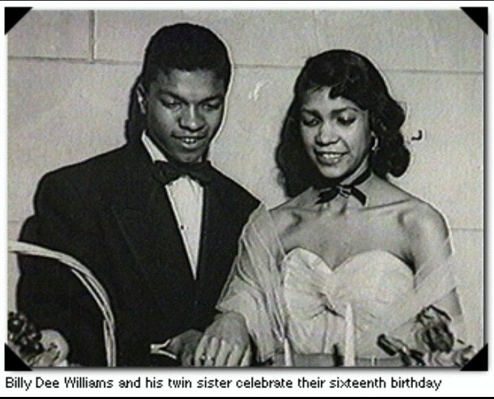 Billy Dee Williams & his twin sister at their 16th birthday