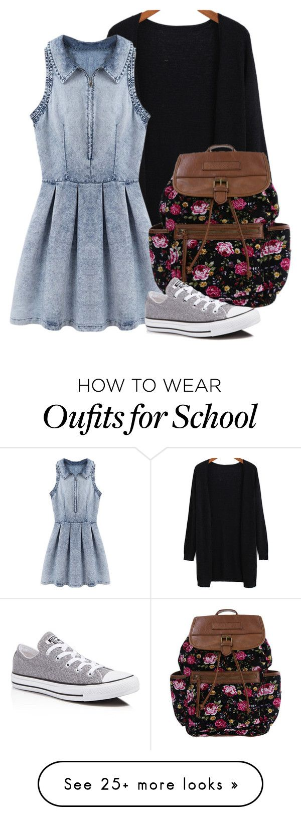 """School Day"" by superal on Polyvore featuring Converse"