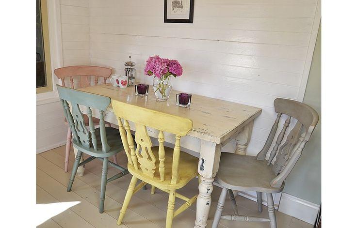 Shabby chic harvest table