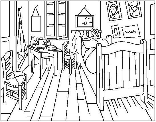 Maestra de Infantil: Arte en educación infantil. Plantillas de cuadros famosos.