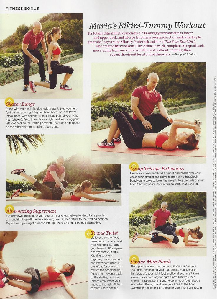 Maria Menounos in the latest Women's Health magazine features her workout from trainer Harley Pasternak. Enjoy.