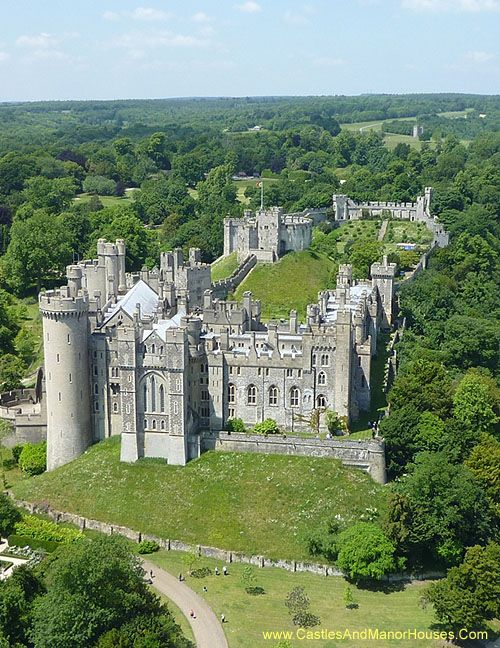 Arundel Castle, Arundel, West Sussex, England. - Arundel Castle is a restored medieval castle. It was established by Roger de Montgomery on Christmas Day 1067. Roger became the first to hold the earldom of Arundel under William the Conqueror. The castle was damaged in the English Civil War and then restored in the 18th and 19th centuries.