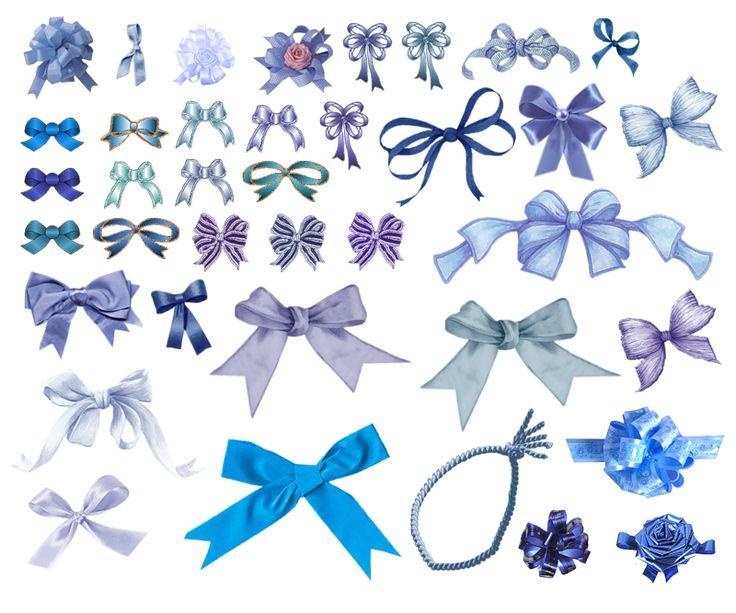 Цветы и банты на открытки