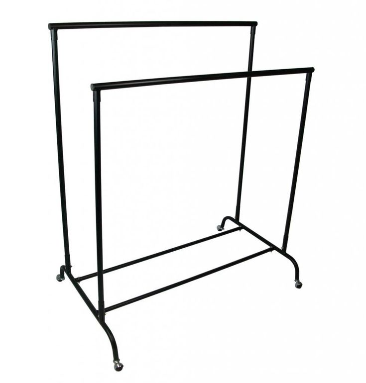 First-Fittings-double-portable-heavy-duty-clothes-rail-rack-shop-fitting-wheels
