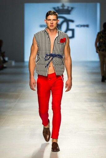 Goose Homme Prorsum look 5 at Mercedes Benz Cape Town Fashion Week SS15