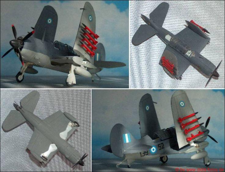 """Greece: Curtiss (A-25)SB-2C """"Helldiver"""" (Aoshima 208)  1:72"""
