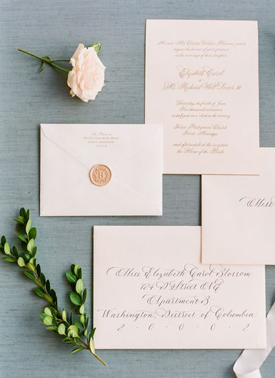 Classic suite with a wax seal | Ashley Upchurch