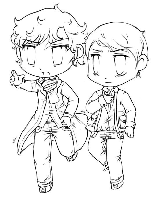 sherlock coloring pages - photo#5