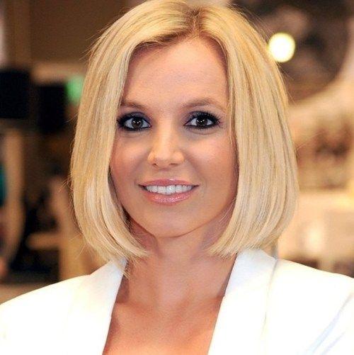 Britney Spears blunt bob cut