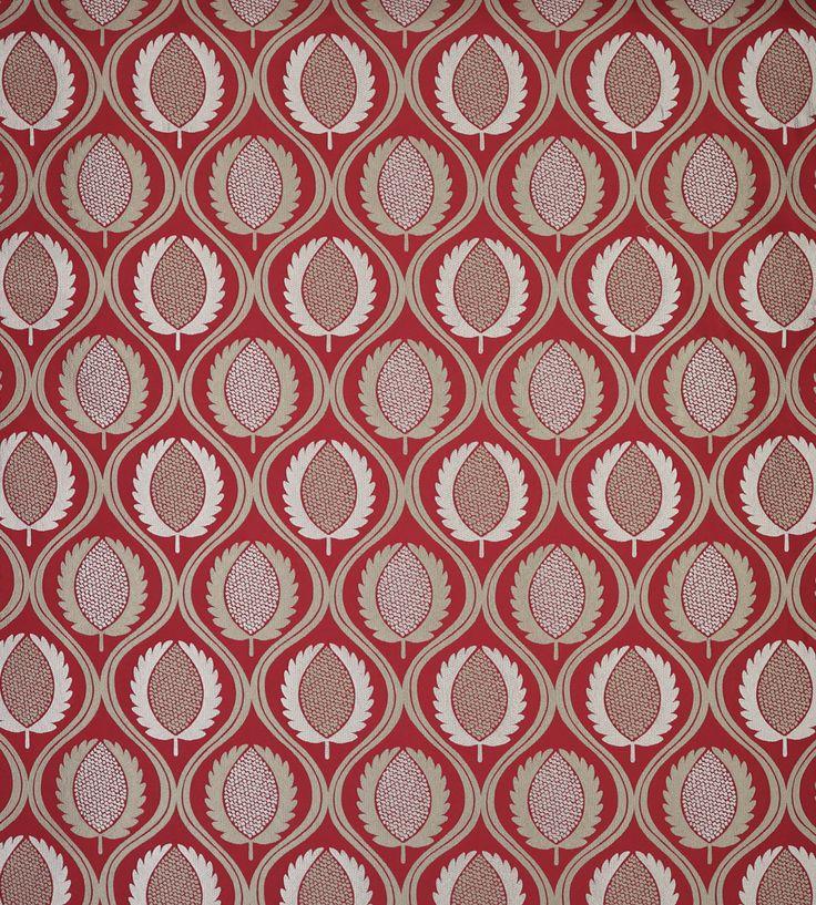 Pantone, Marsala | Carus Fabric by Jane Churchill | Jane Clayton