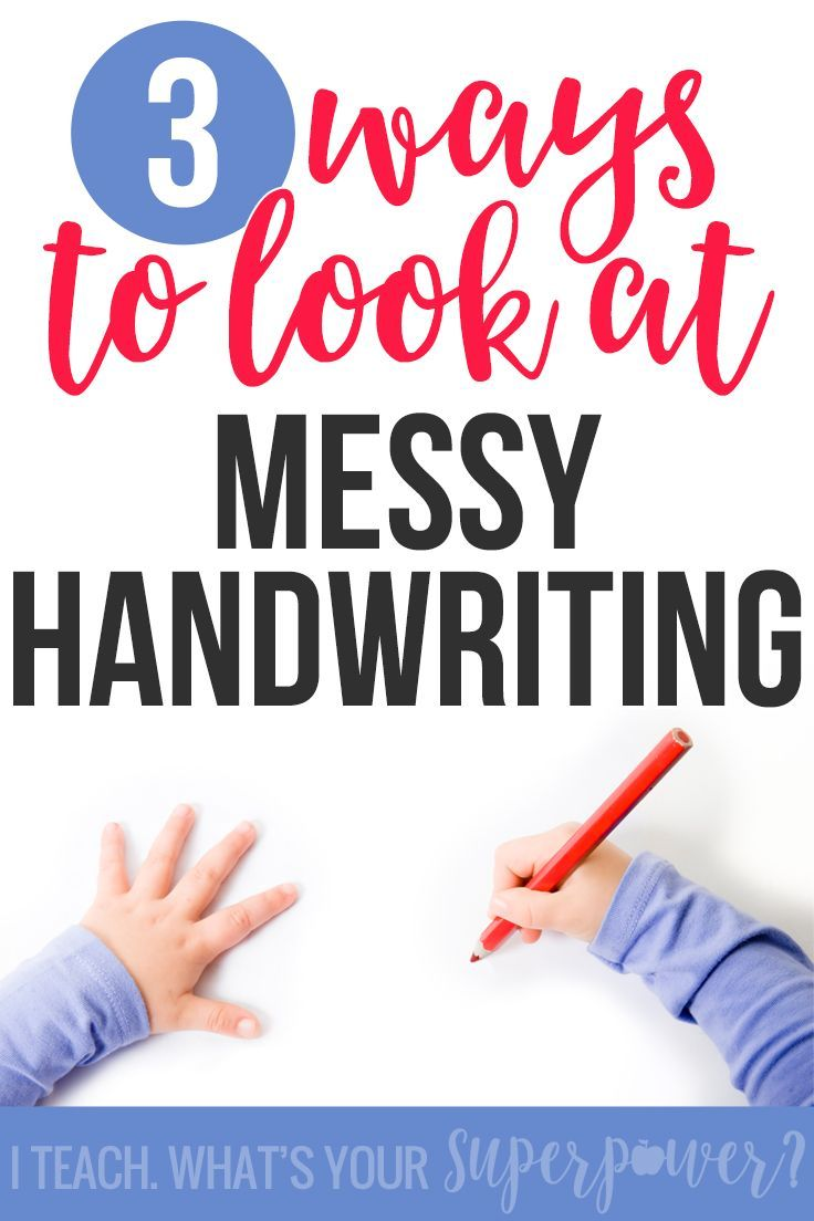 Messy handwriting got you down? It could be because of bad habits but don't overlook other underlying causes.  #3 caught me by surprise as a mom and reading specialist.