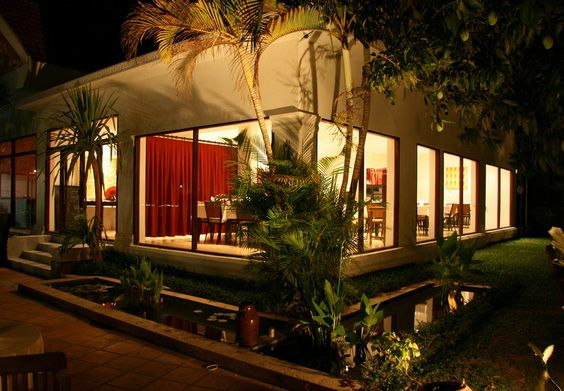 Abacus Restaurant Siem Reap Garden Bar Fine French And