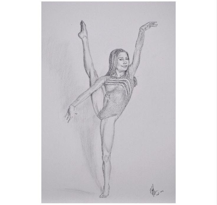 Картинки гимнасток девочек карандашом