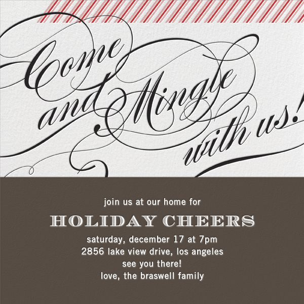17 Best images about Online Christmas Party Invitations on – When to Send Party Invitations