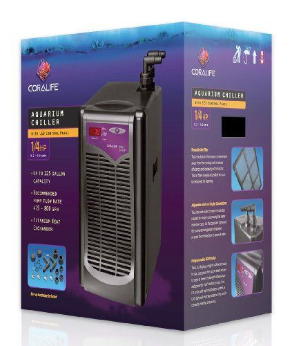 The Coralife Aquarium Chiller provides accurate temperature control with the quality construction and durability you have come to expect. The inlcuded air filter keeps contaminants away from the cooli...