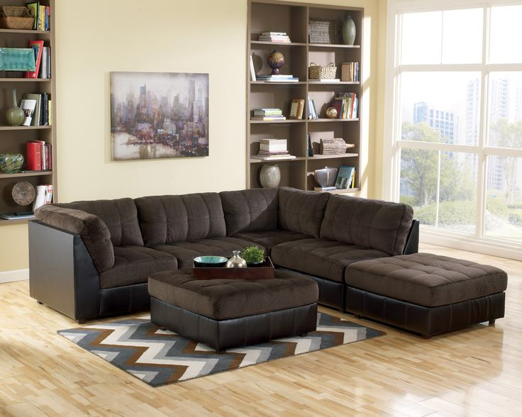 Sofa Source Furniture Store In PA Delaware County Philadelphia Hobokin  Chocolate Modular Sectional