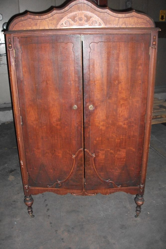 Antique Wardrobe Armoire Chifferobe Dresser Closet