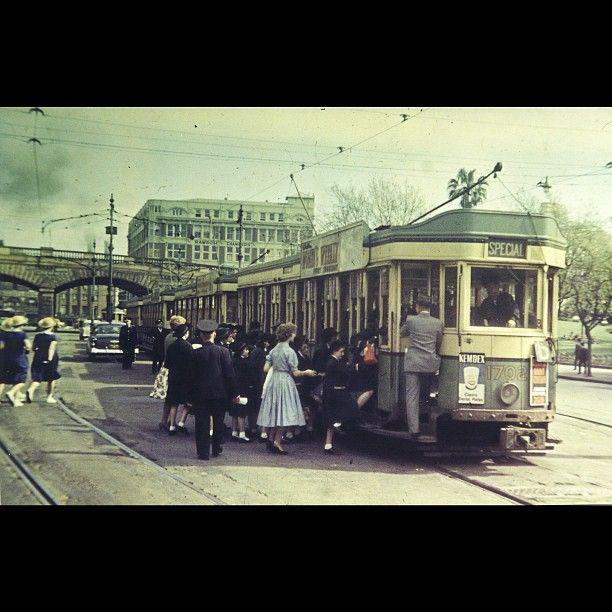 tram on Eddy Avenue, Sydney taken in 1956.
