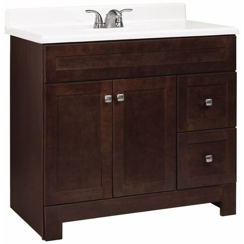 bathroom cabinets lowes zoomed estate by rsi 36 quot java avalon casual bath vanity 11313