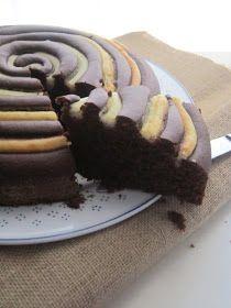 La casa delle briciole: Torta girella con farina di riso, cacao e crema alla vaniglia