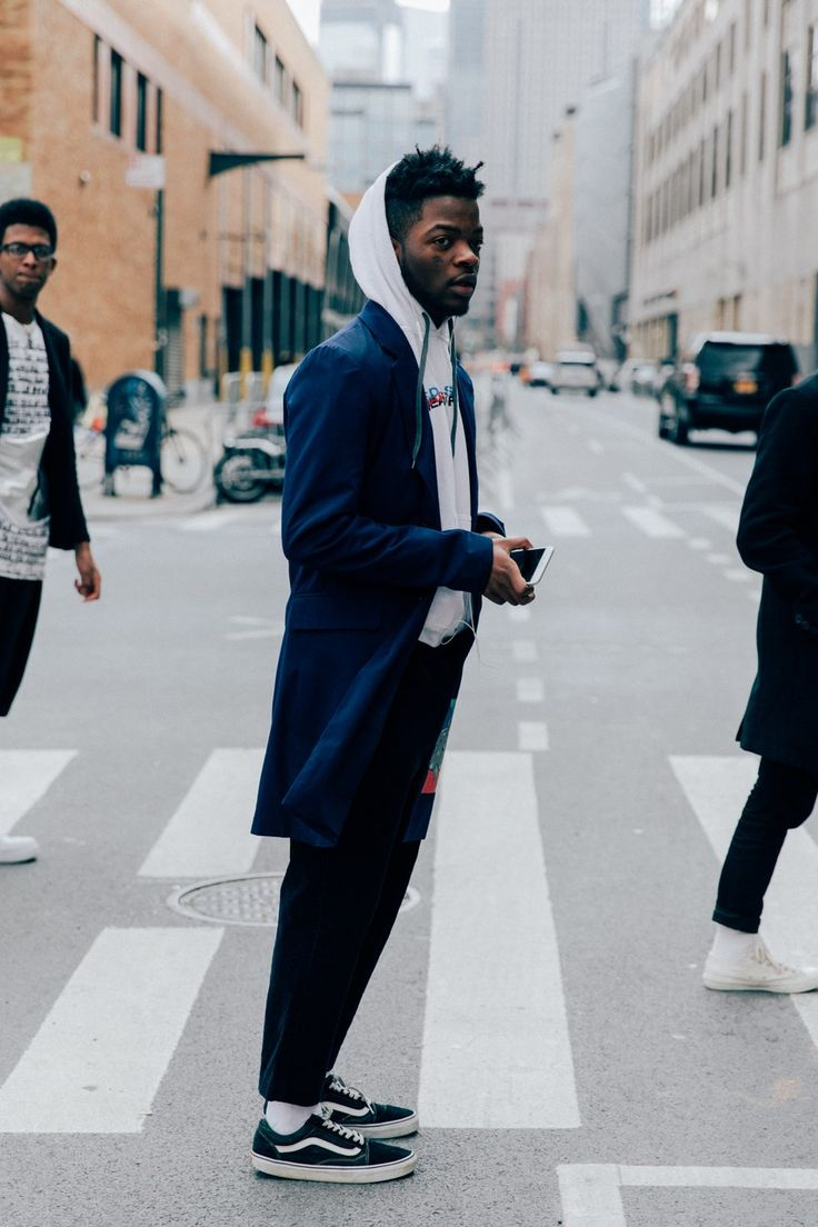 Fashion look from december 2014 featuring mens sweatshirts mens - The Best Street Style From New York Fashion Week Men S