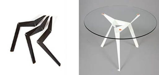Origami Table by Anthony Dickens — FURNISHINGS -- Better Living Through Design