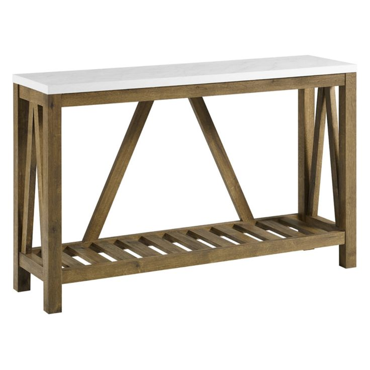Walker Edison A-Frame Rustic Entry Console Table - HNF52AFTMNW