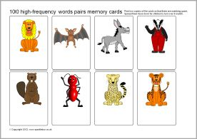 Editable word and picture flash cards (SB7333) - SparkleBox