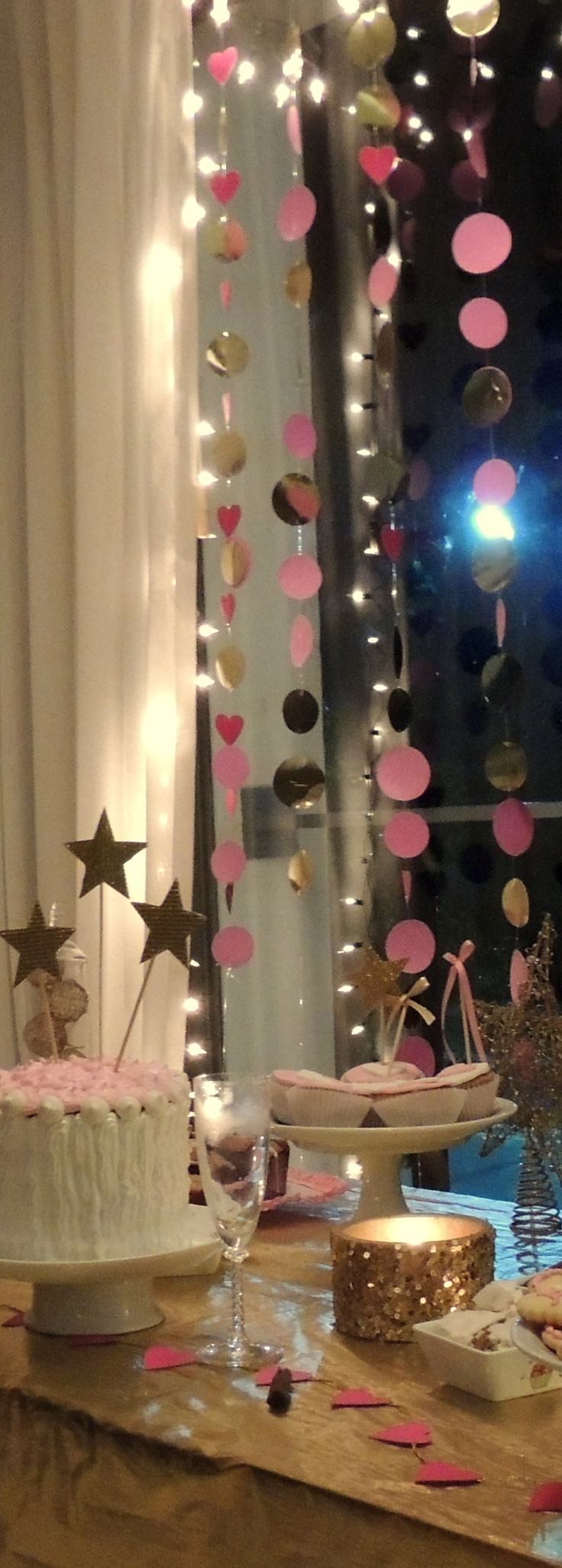 Mesa dulce a o nuevo 2013 gold and pink happy new year for Decoracion joven