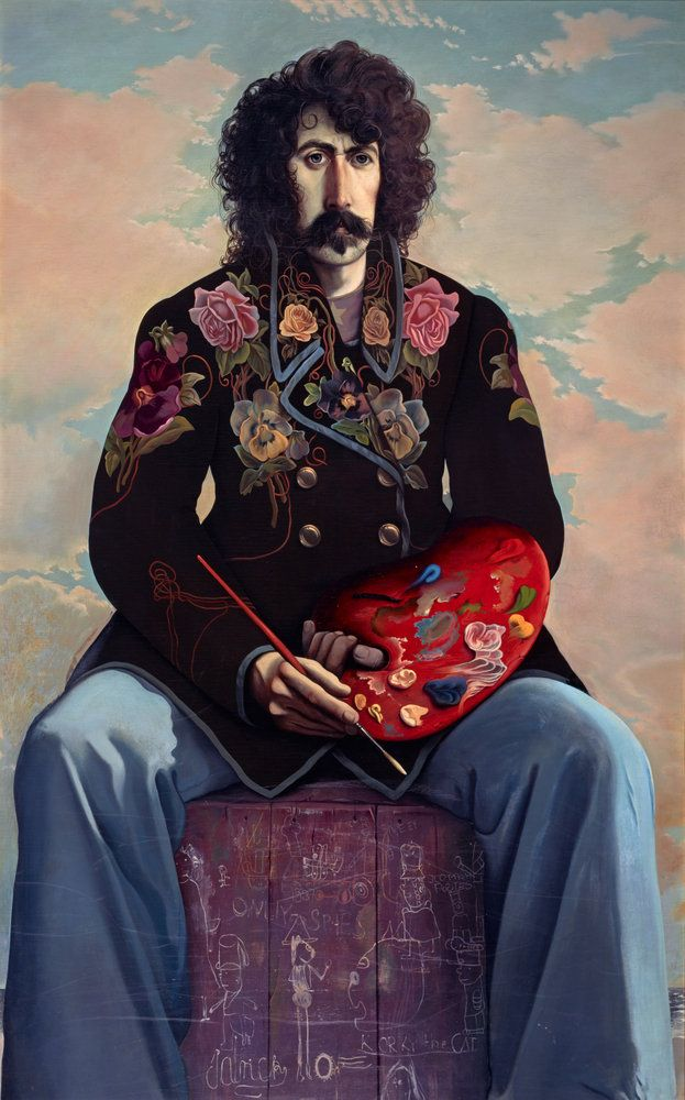 John Patrick Byrne, b. 1940. Artist, dramatist and stage designer (Self-portrait in a Flowered Jacket) - John Byrne. Has always made me think of Frank Zappa!