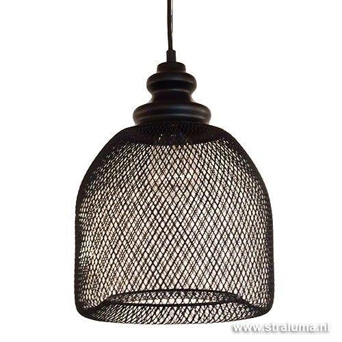 *Gaas hanglamp Karlijn zwart woonkamer - www.straluma.nl
