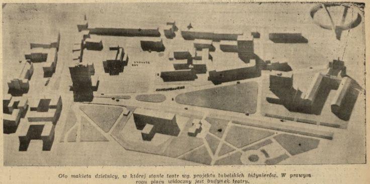 Makieta al. Racławickie, 1960 źródło JP555