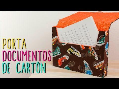 ▶ Carpeta/Archivero de Cartón ♥- DIY Portadocumentos - Regreso a Clases - YouTube