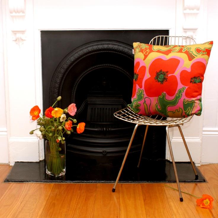'Floppy Poppy' Cushion
