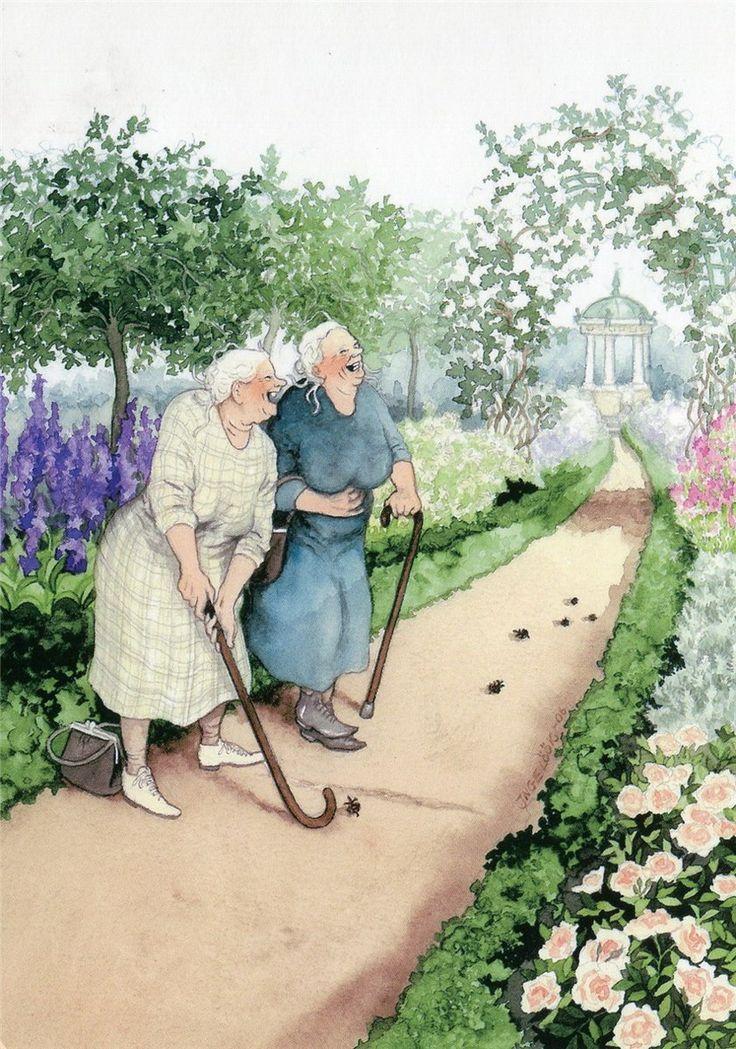Открытки со старушками веселушками