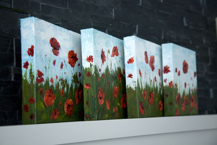 How To Paint Poppy Flowers with Acrylic Paint and a Palette Knife, Simple Step-By-Step Tutorial. | Melissa McKinnon: Artist