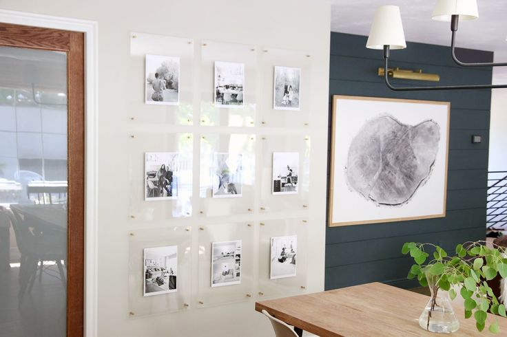 A Modern, Kid-Friendly, Family Gallery Wall in the Dining Room - Chris Loves Julia Minimalist Organized