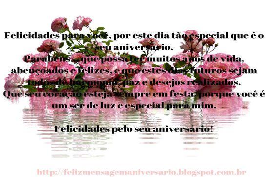 Mensagem de Aniversário Felicidades pelo seu Aniversário