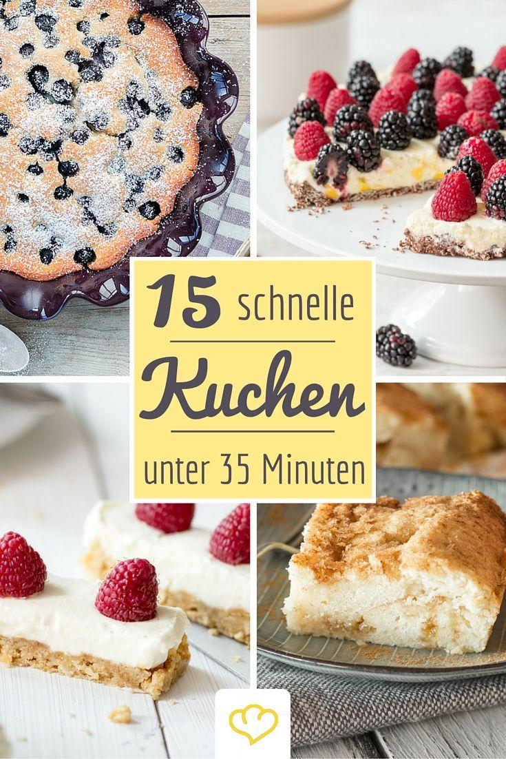 Es hat sich spontan Besuch angemeldet? Diese 15 schnellen Kuchen sind in kaum mehr als 30 Minuten bereit genossen zu werden!