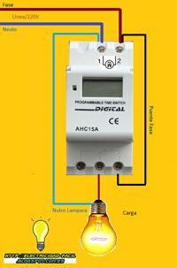 Esquemas eléctricos: reloj horario programable