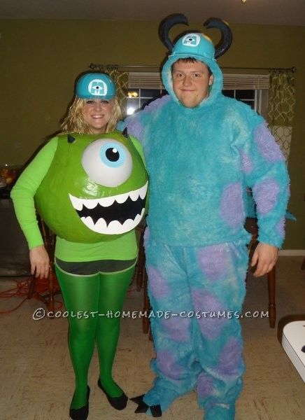 Awesome Mike and Sully Monsters Inc. Couples Costume... This website is the Pinterest of costumes
