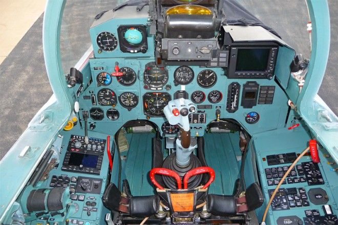 Russian Su-27 'Flanker' Air Superiority  fighter  --- cockpit view of the front instrument cluster.