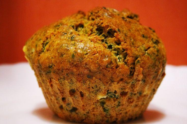 Muffiny ze szpinakiem