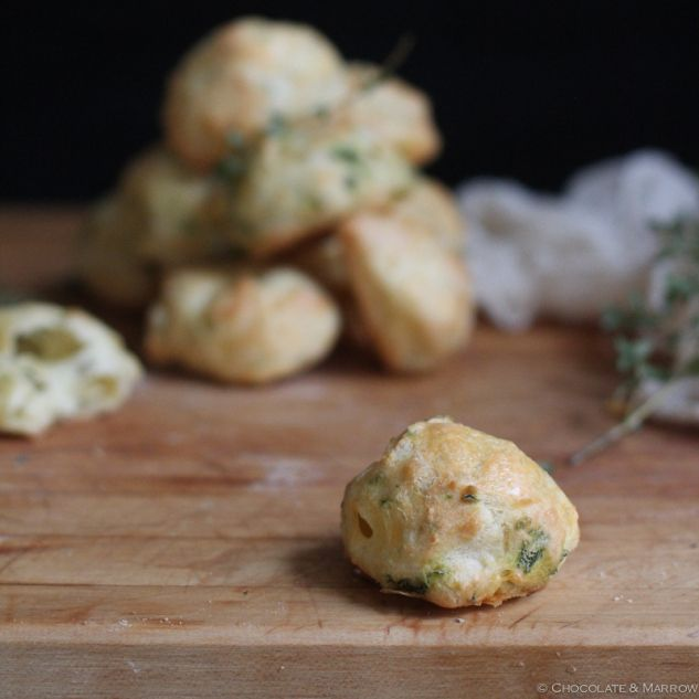 Cheddar and Thyme Gougères (Cheese Puffs) | Vegetarian | Pinterest ...