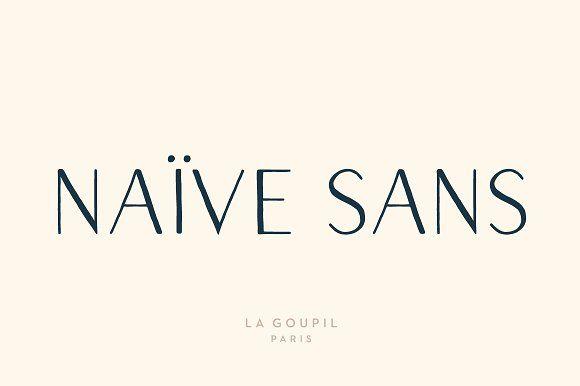 Naive Sans Font Pack by La Goupil Paris on @creativemarket