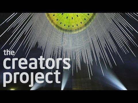 Creating A Cathedral Of Light Inside A Gas Tank | URBANSCREEN's 320° Light