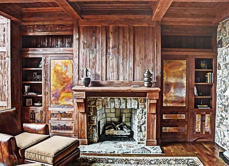 Rustic Fireplace | For the Home | Pinterest | Rustic ...